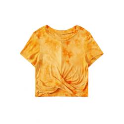 T-shirt court orange