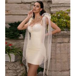 Robe  de cocktail blanche -...