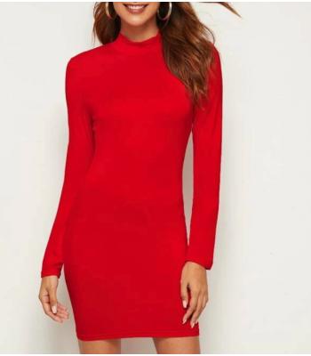 Robe moulante rouge Nina