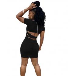 Robe courte sexy noire - Léa