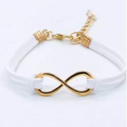 Bracelet blanc or infini