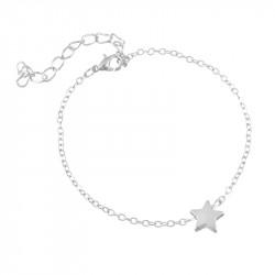 Bracelet étoile argenté