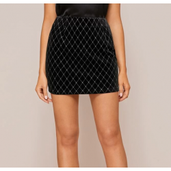 Mini jupe velours et strass