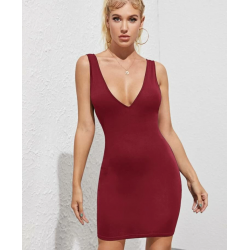 Mini robe bordeaux - Stacy