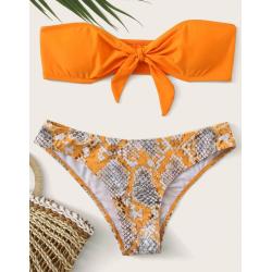Bikini bandeau orange...