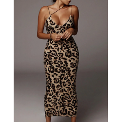 Robe moulante léopard...