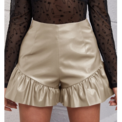 Mini short beige simili