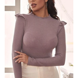Pull froufrou lilas