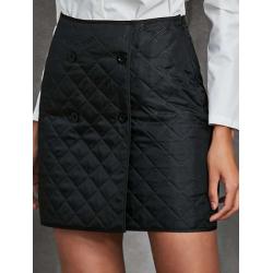 Mini jupe matelassée noire